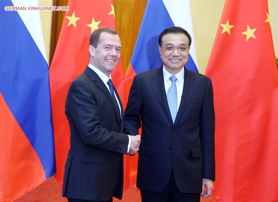 20. Treffen der Premierminister China und Russlands