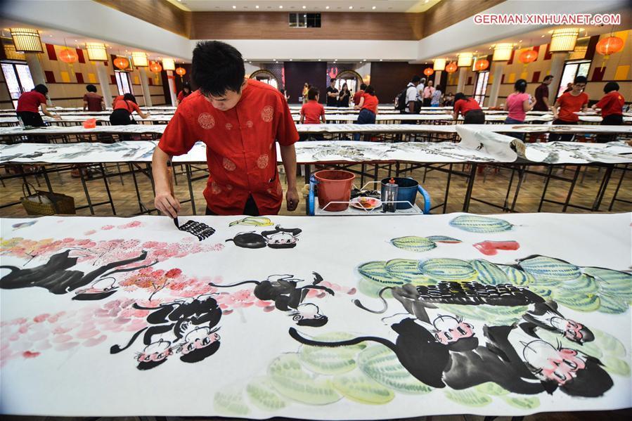 Rekord-Rollgemälde zur Begrüßung des chinesischen Neujahr in ...
