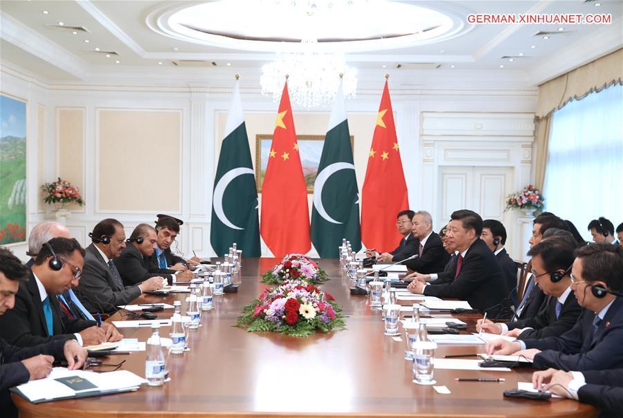 UZBEKISTAN-CHINA-XI JINPING-PAKISTANI PRESIDENT-MEETING