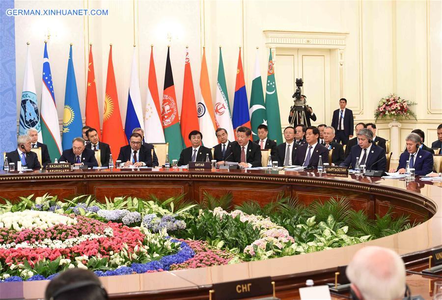 UZBEKISTAN-CHINA-XI JINPING-SCO-MEETING