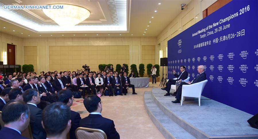 CHINA-TIANJIN-SUMMER DAVOS-LI KEQIANG-TALKS (CN)