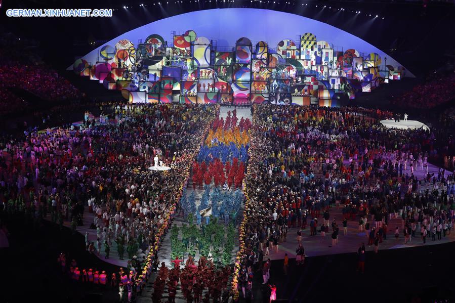 Samba Bei Der Eroffnungsfeier Der 2016 Rio Olympischen Spiele Xinhua German Xinhuanet Com