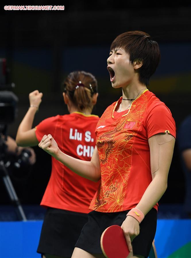 Olympisches Gold für China bei Tischtennis-G