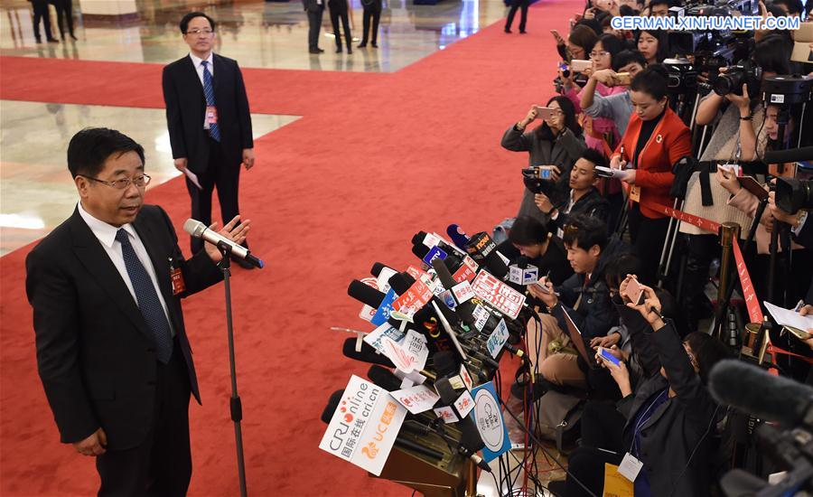 (TWO SESSIONS)CHINA-BEIJING-CPPCC-MINISTER-INTERVIEW (CN)