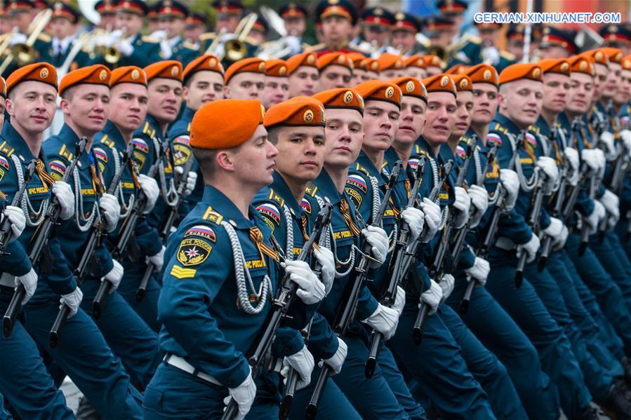 truppenparade in moskau