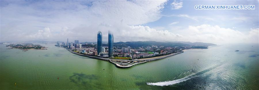 (XIAMEN SUMMIT)CHINA-FUJIAN-XIAMEN-AERIAL PANORAMA (CN)