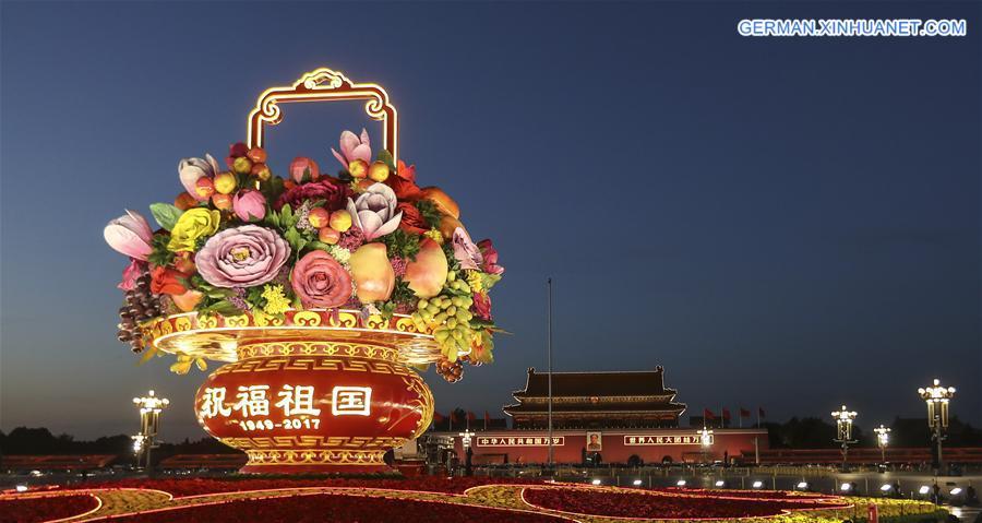 CHINA-BEIJING-NATIONAL DAY-FLOWER TERRACE(CN)
