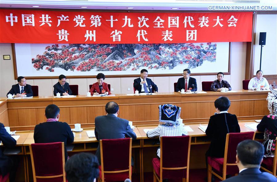 (CPC)CHINA-BEIJING-XI JINPING-CPC NATIONAL CONGRESS-PANEL DISCUSSION (CN)