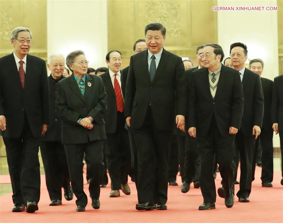 Xi Jinping trifft Führungen der Nicht-Kommunistischen Parteien, der ...
