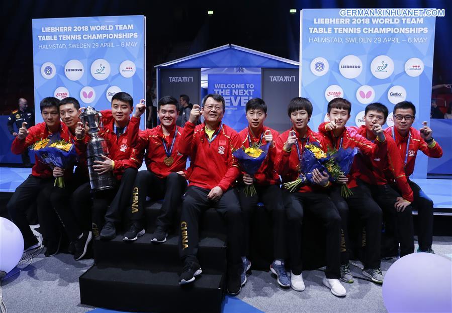 tischtennis weltmeisterschaft 2018