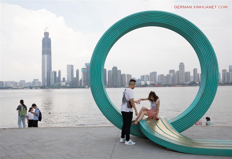 In Bildern: Landschaft des Ufers des Wuhan-Abschnitts des Jangtse ...