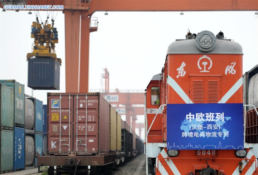 CHINA-EUROPE-FREIGHT TRAINS TRIPS-SURGING