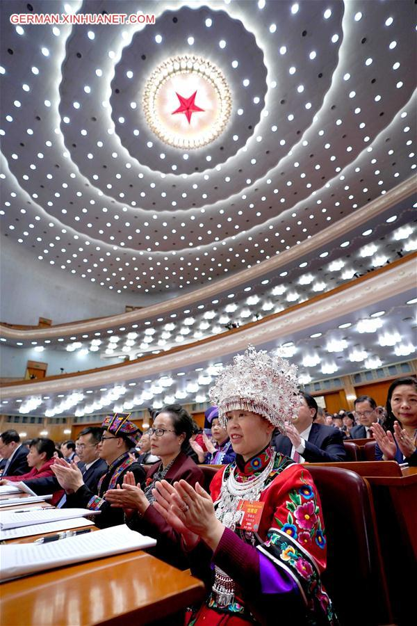 (TWO SESSIONS)CHINA-BEIJING-NPC-SECOND PLENARY MEETING (CN)