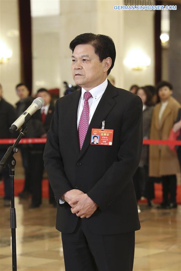 (TWO SESSIONS)CHINA-BEIJING-NPC-DEPUTIES-INTERVIEW (CN)