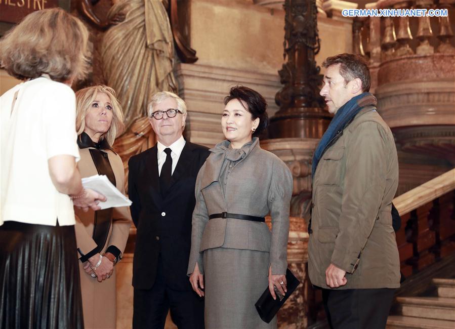 FRANCE-PARIS-PENG LIYUAN-OPERA GARNIER-VISIT