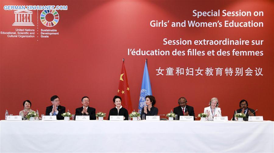 FRANCE-PARIS-PENG LIYUAN-UNESCO-SPECIAL SESSION