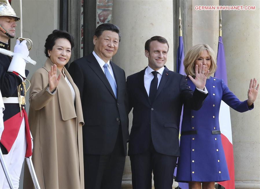 FRANCE-PARIS-CHINA-XI JINPING-MACRON-DEPARTURE