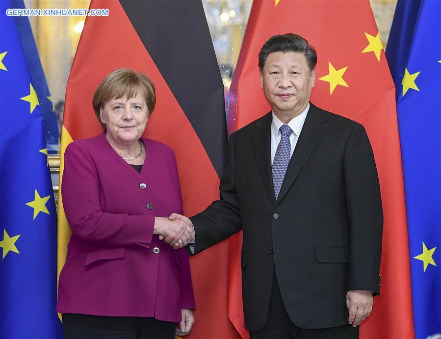 FRANCE-PARIS-CHINA-XI JINPING-MERKEL-MEETING