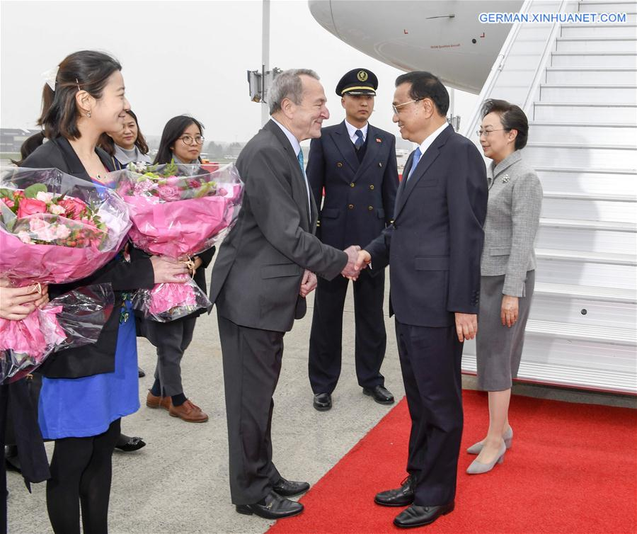 BELGIUM-BRUSSELS-CHINA-EU LEADERS' MEETING-LI KEQIANG-ARRIVAL
