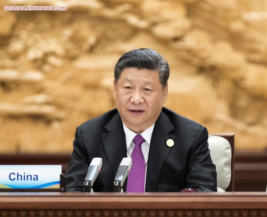 (BRF)CHINA-BEIJING-BELT AND ROAD FORUM-LEADERS' ROUNDTABLE-XI JINPING (CN)
