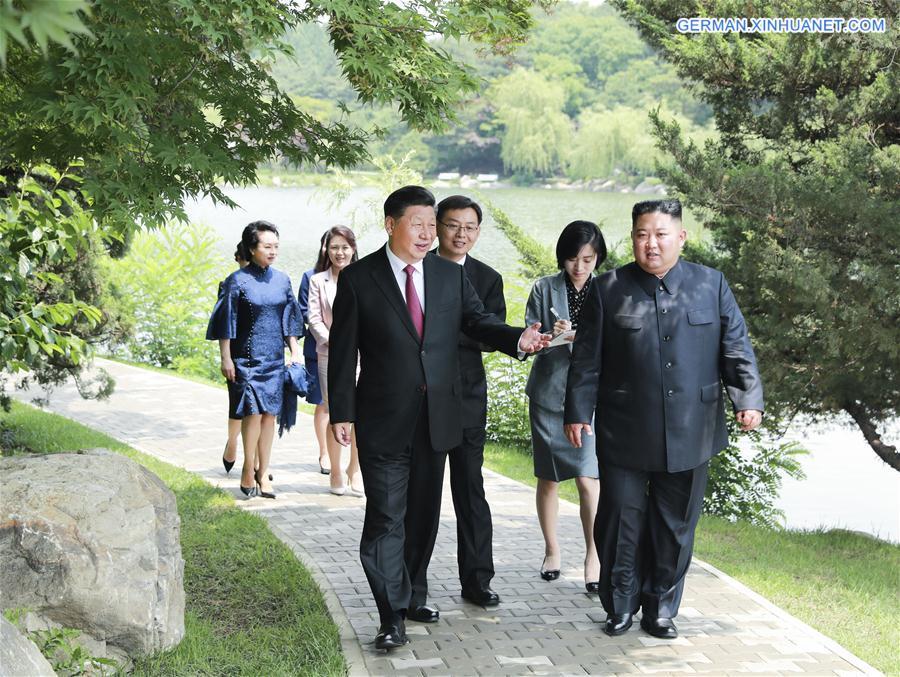 DPRK-PYONGYANG-CHINA-XI JINPING-KIM JONG UN-MEETING