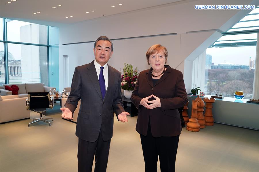 GERMANY-BERLIN-MERKEL-WANG YI-MEETING