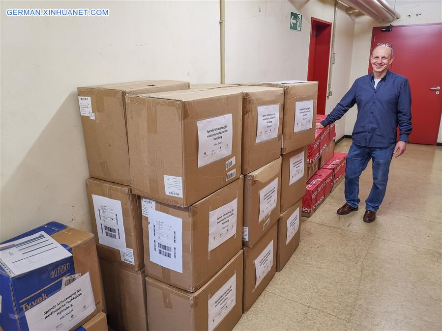 GERMANY-HEINSBERG-OVERSEAS CHINESE-COVID-19-MEDICAL SUPPLIES-DONATION
