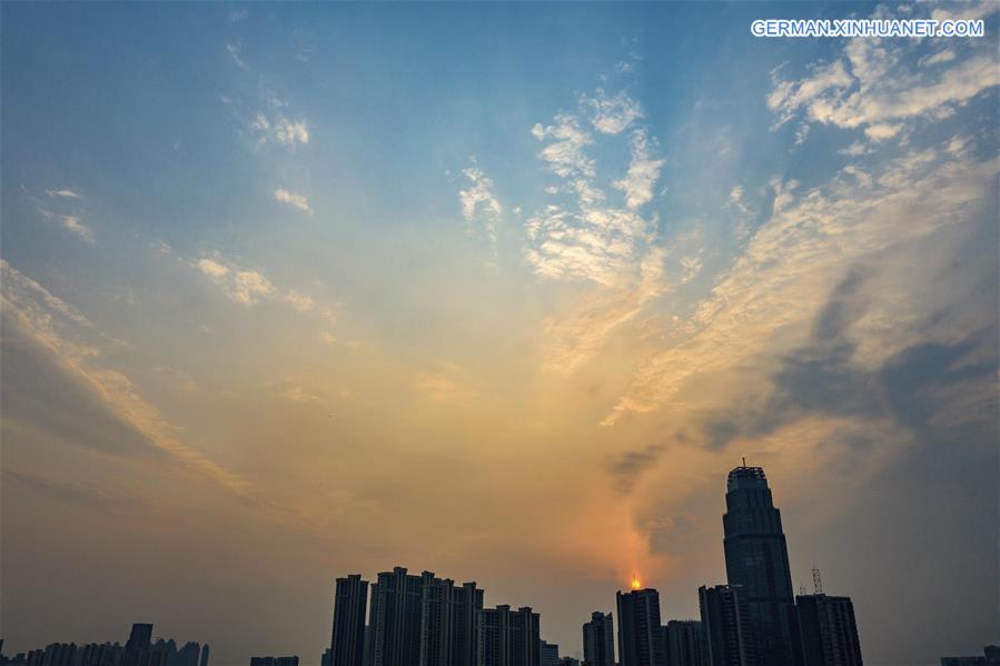CHINA-WUHAN-SUNSET GLOW (CN)