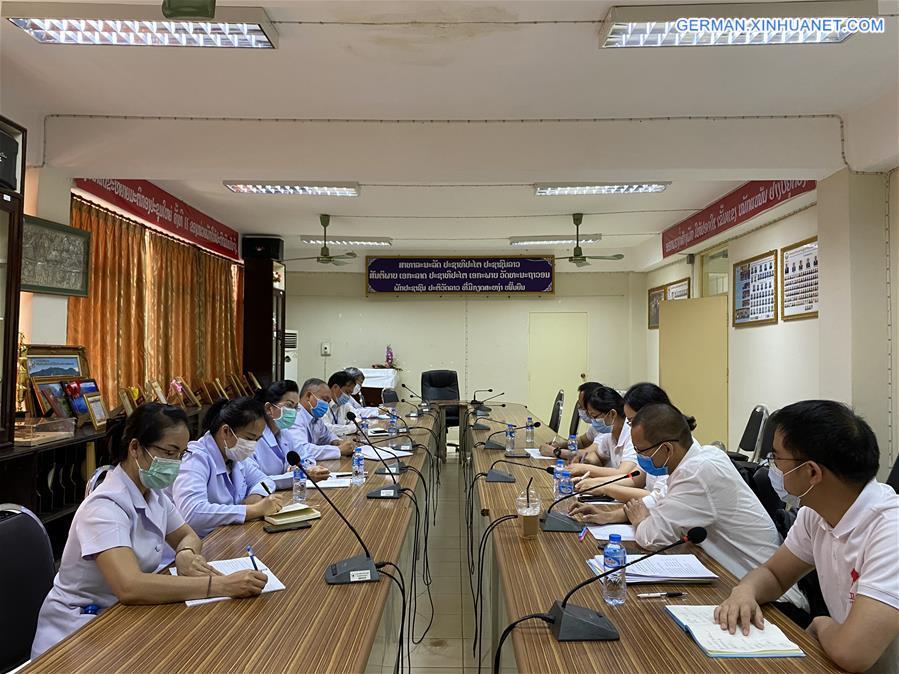 LAOS-VIENTIANE-CHINA-COVID-19-EXPERT-COOPERATION