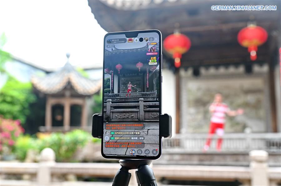 CHINA-FUJIAN-FUZHOU-LIVESTREAMING-TOURISM (CN)