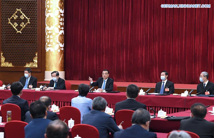(TWO SESSIONS)CHINA-BEIJING-LI KEQIANG-CPPCC-GROUP DISCUSSION (CN)