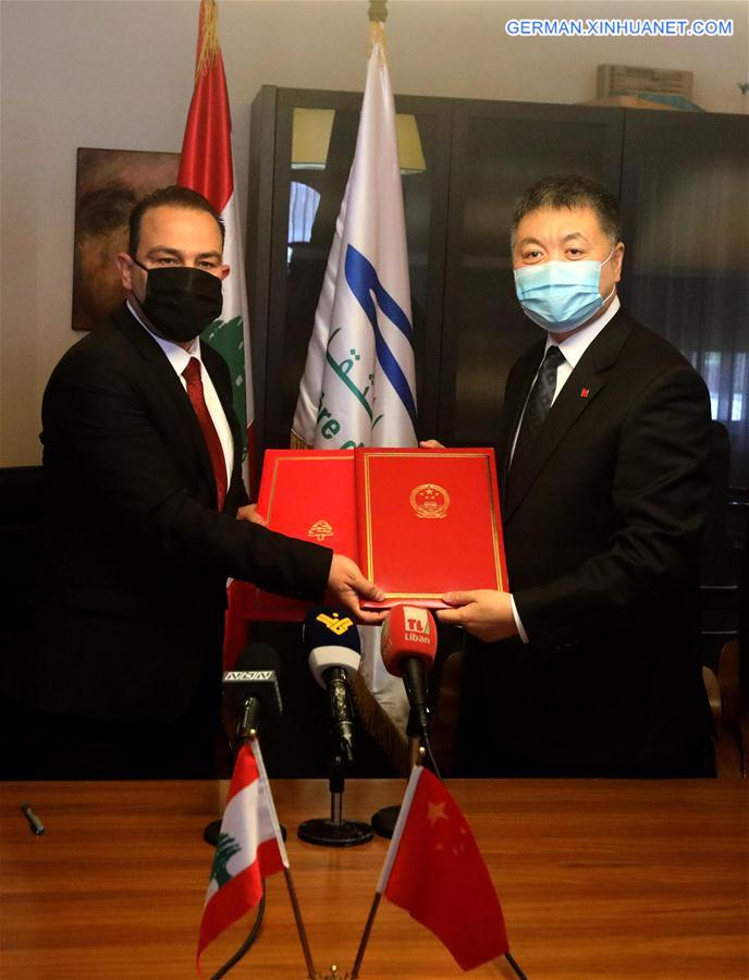 LEBANON-BEIRUT-CHINA-CULTURAL CENTERS-AGREEMENT SIGNING