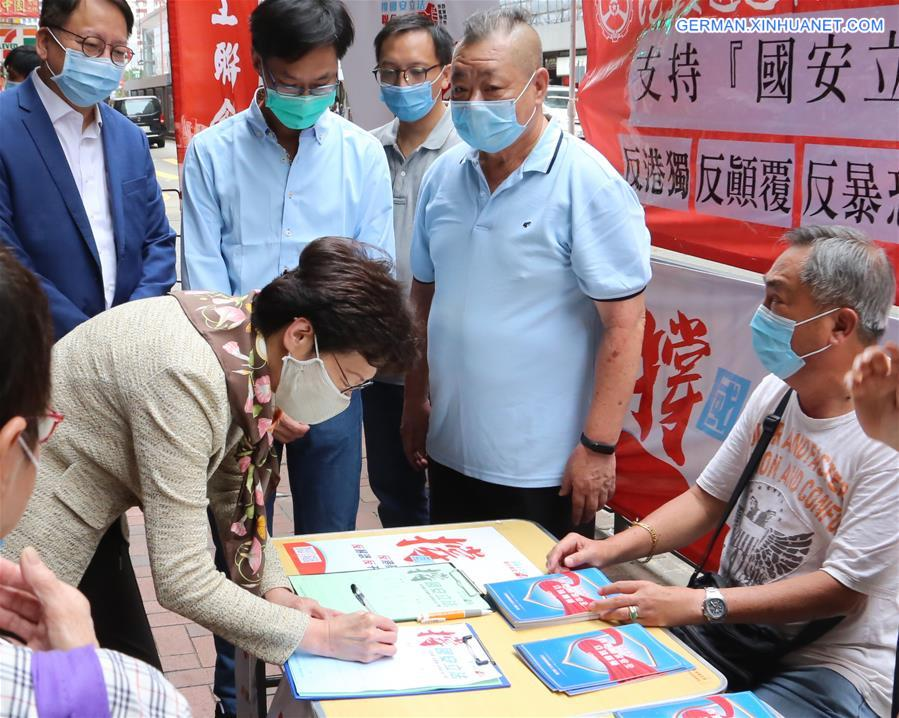 CHINA-HONG KONG-CARRIE LAM-NATIONAL SECURITY LEGISLATION-PETITION-SIGNING (CN)