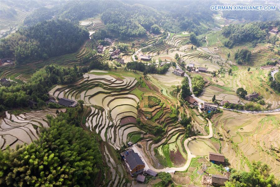 CHINA-HUNAN-TERRACED FIELDS-LANDSCAPE (CN)