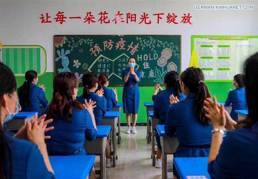 CHINA-HEBEI-HANDAN-COVID-19-SCHOOL-RESUMPTION-DRILLS (CN)