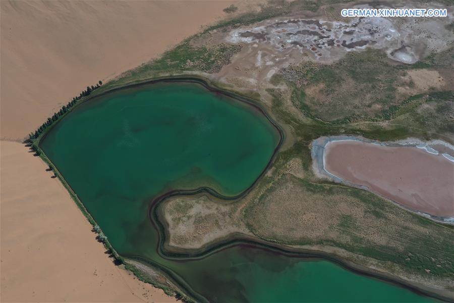 CHINA-INNER MONGOLIA-DESERT-LAKE VIEW (CN)