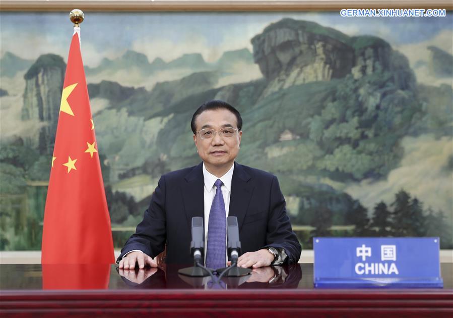 CHINA-LI KEQIANG-VIRTUAL GLOBAL VACCINE SUMMIT (CN)