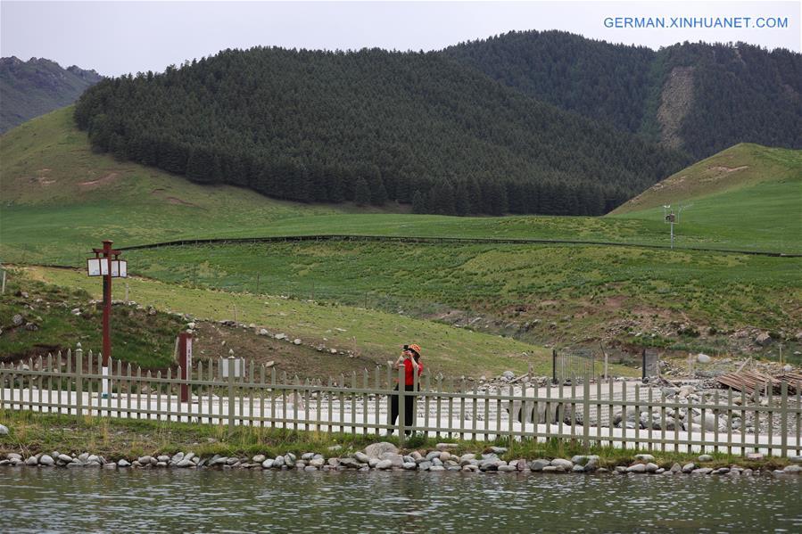 CHINA-GANSU-WUWEI-SUMMER RESORT-SCENERY (CN)