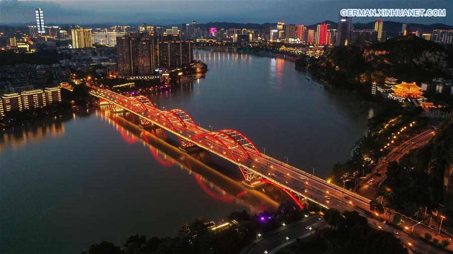 CHINA-GUANGXI-LIUZHOU-NIGHT VIEW (CN)