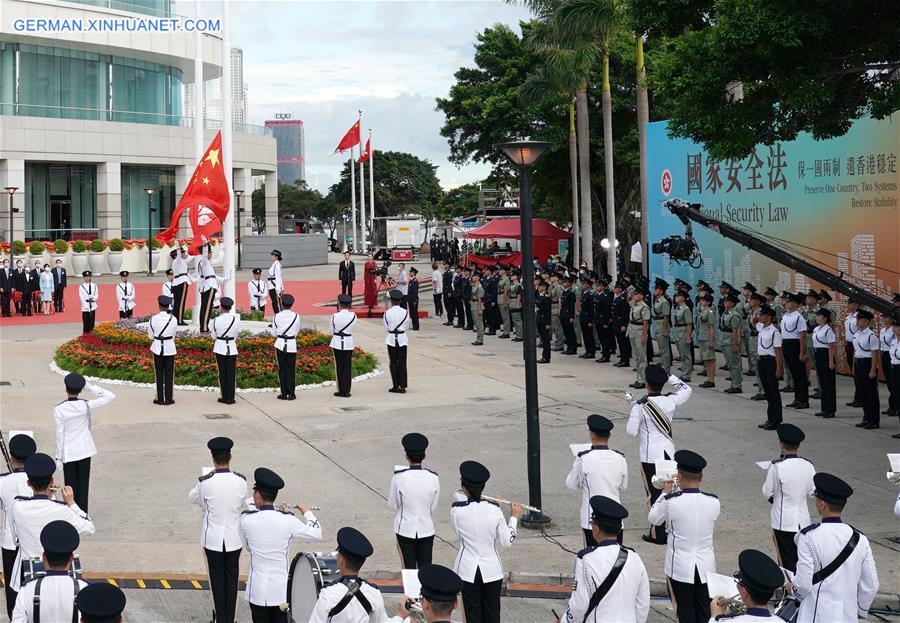 CHINA-HONG KONG-FLAG-RAISING CEREMONY(CN)