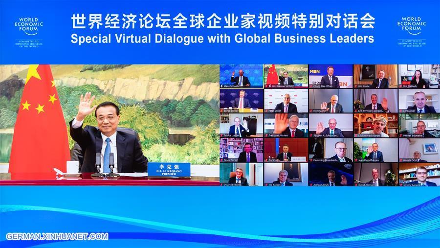 CHINA-BEIJING-LI KEQIANG-WEF-BUSINESS LEADERS-DIALOGUE (CN)