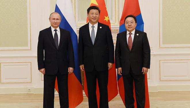 3. trilaterales Treffen der Regierungschefs von China, Russland und Mongolei in Taschkent abgehalten