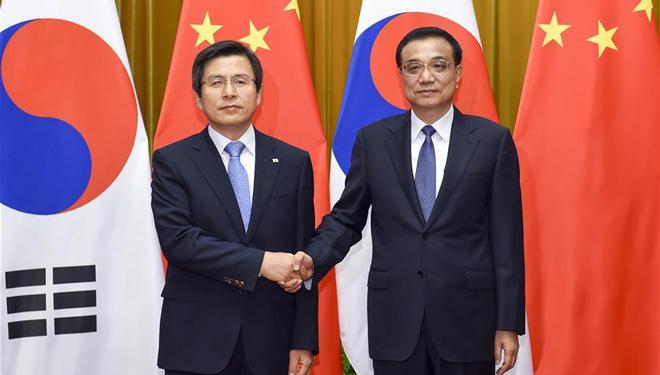 Li Keqiang führt Gespräche mit dem südkoreanischen Premierminister in Beijing