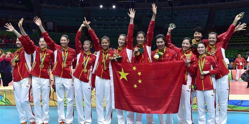 Chinas Frauen-Volleyballmannschaft gewinnt Goldmedaille in Rio