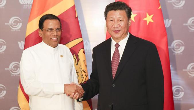 Xi Jinping trifft srilankischen Präsidenten Maithripala Sirisena