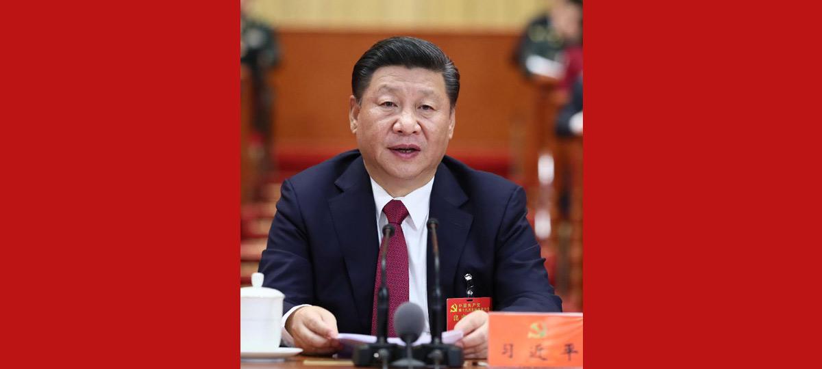 Xi Jinping hält Vorsitz über Abschlusssitzung des 19. Parteitages der KPCh