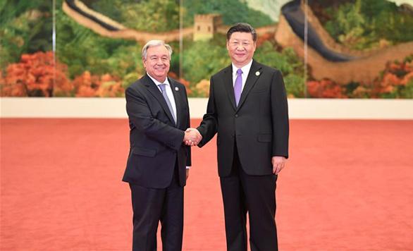 Xi Jinping begrüßt ausländische Führungen des Beijing-Gipfeltreffens des FOCAC
