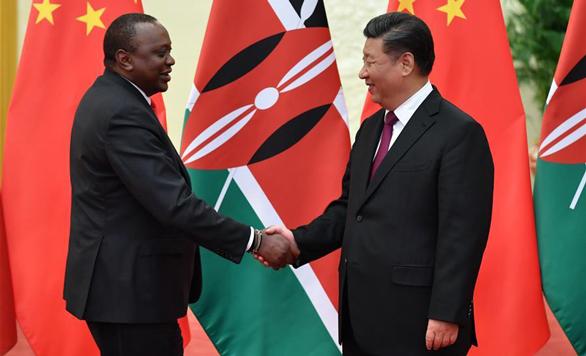 Xi Jinping trifft kenianischen Präsidenten in Beijing