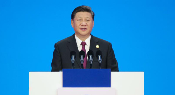 Xi besucht die China International Import Expo