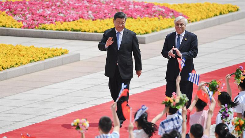 Xi führt Gespräche mit griechischem Staatspräsidenten